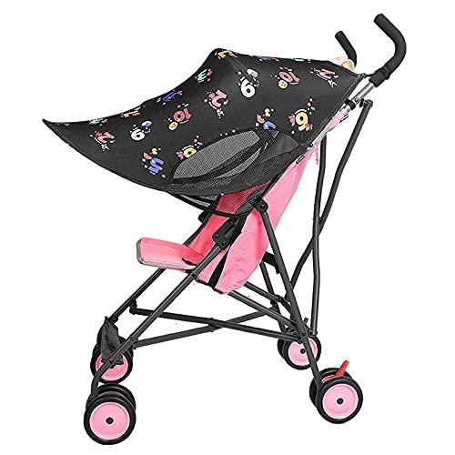 Cochecito de bebé Universal Sol Protector de protección para el bebé Asientos de automóviles Landau Buggy Stroller Sun Lluvia Shade Cubierta Parasol Toddler Luz del Sol Cochecito,A