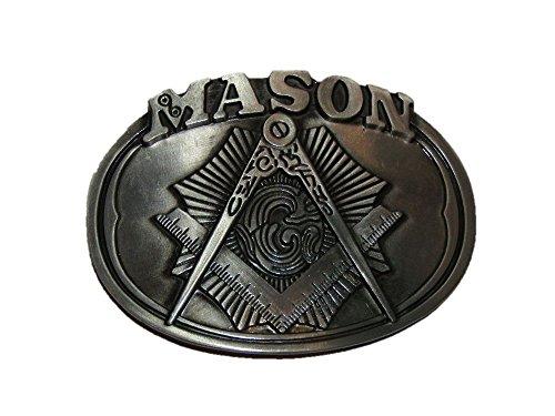 K's Novelties Freemason Crest Mason Masonic Metal Belt Buckle
