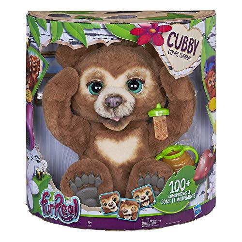 Furreal Friends Peluche Interactive Cubby, l'Ours Curieux - Version française