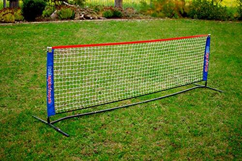 Kit de Tennis Loisir : Poteaux + Filet + Sac de Transport - pour Le Jardin ou Les entraînements de Jeunes