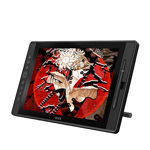VEIKK 正規品 VK1560描画モニタ1592インチフルHD IPSグラフィックスディスプレイ、8192レベルのバッテリフリーペンスタイラスと7つのショートカットキーとScrollDial