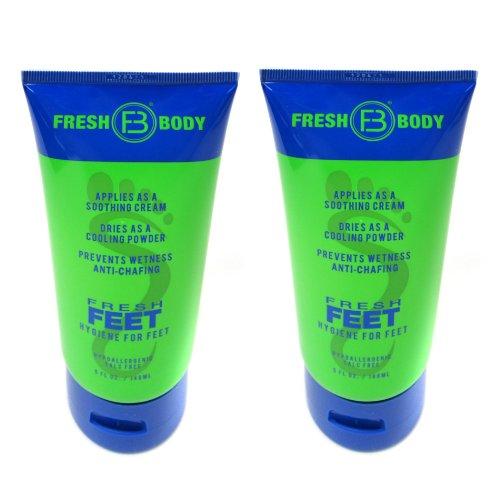 Fresh Body Fresh Feet Lotion for Men, 5 OZ tube (2 Pack)- 10 Ounce