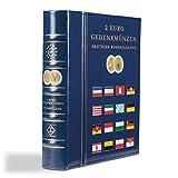 Leuchtturm 341013 Vista Álbum para Las Monedas conmemorativas de 2 Euros alemanas,con cajetín Protector,Azul