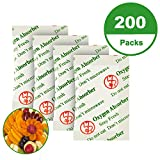 20CC(200-Pack) Food Grade Oxygen Absorbers Packets for Home Made Jerky and Long Term Food Storage, Stored in Vacuum Bag and 3 times Oxygen Absorption Capacity