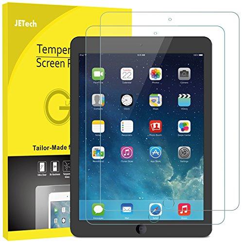 JETech Panzerglas Kompatibel mit iPad (9,7-Zoll, 2018/2017 Modell, 6./5.Generation), iPad Air 1, iPad Air 2, iPad Pro 9,7-Zoll, Gehärtetem Glas Bildschirmschutzfolie, 2 Stück