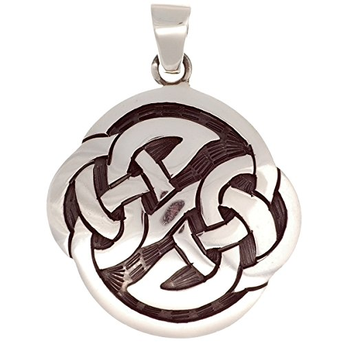 Colgante celta de plata 925, serrado a mano, patrón de nudos