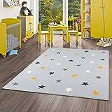 Pergamon Trendline - Alfombra para niños y jóvenes - Estrellas - Gris Mixta - 5 tamaños