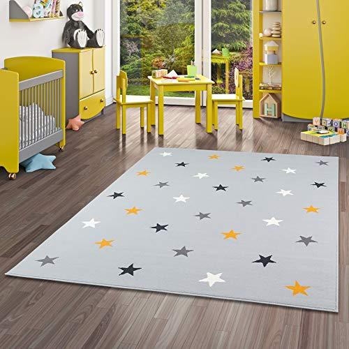 Pergamon Trendline - Alfombra para niños y jóvenes - Estrellas - Gris...