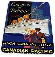 マウスパッド ゲーミングマウスパッド-カナダ太平洋皇后ハンブルクベルリンドイツクルーズ船滑り止め デスクマット 水洗い 25x30cm