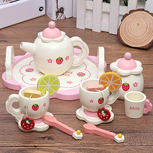 15pcs Kitchen Pretend Play Accesorio Juego de Juguetes (15 Piezas Incluyendo Taza de té y platillos)