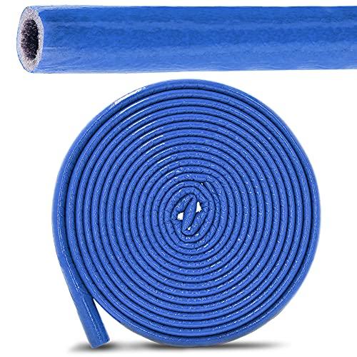 PE-Rohrisolierung Isolierschlauch 10 m Rolle x Ø 15 mm / 6 mm Isolierstärke Blau | Schutzschlauch Heizungsrohr Isolierung mit Schutzhaut | Rohr Dämmung Schlauch Rohrdämmung Warmwasserleitung Heizung