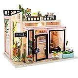 LMM Gebäude aus Holz Modellspielzeughaus montiert, Assembled 3D manuell eingerichtete Haus...