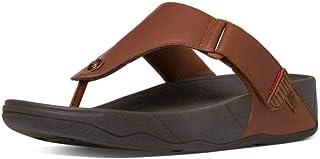 Fitflop Men's Trakk Ii Toe Post-Leather Open Sandals, 0