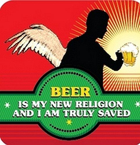 Boxer Gifts Dessous-de-Verre à bière-New Religion