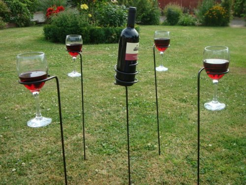 Garden Drinks Wine Glass & Bottle Holder Set