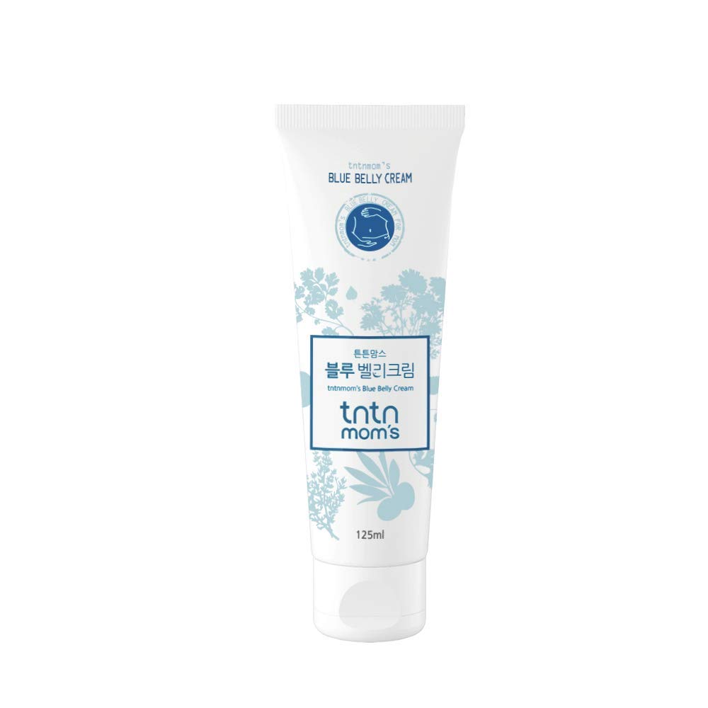 TNTN MOM'S – Blue Belly cream for pregnancy | Remove Stretch Marks | Maternity moisturizing tummy care lotion with Plant Based | maternity Scars care | Firming | Non-toxic | Fragrance Free | 4.2 oz