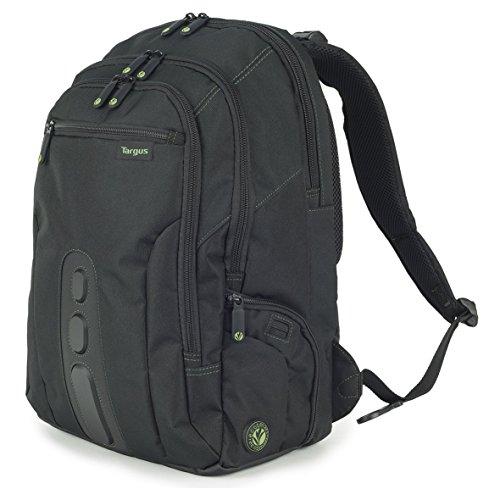 Targus EcoSpruce Laptop Rucksack 27 L, umweltfreundlicher Rucksack für Laptops bis 15,6 Zoll, Laptoptasche aus recycelten Plastikflaschen, hoher Schutz – Schwarz, TBB013EU