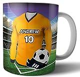 Regalo personalizado – Camiseta de fútbol – Taza de té – Taza de café – Cumpleaños – Navidad – relleno de calcetín – Papá Noel secreto – cualquier color del equipo (Wolverhampton)