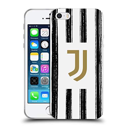 Head Case Designs Ufficiale Juventus Football Club in Casa 2020/21 Kit Abbinato Cover in Morbido Gel Compatibile con Apple iPhone 5 / iPhone 5s / iPhone SE 2016