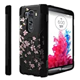 Untouchble Compatible with [ LG V10 (2015), LG V10 Case] Kickstand Case Shock Absorbing Drop Protection Dual Layer Case - Pink Cherry Blossoms