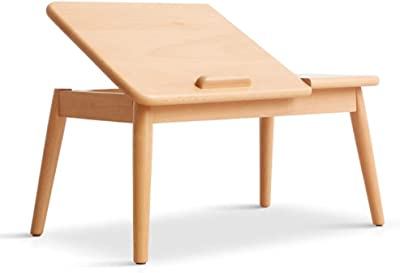 Low Table Table Top Can Be Tilted Solid Wood Bed Table Low Bay Window Solid Wood Table (Color : Beige, Size : 62 * 35 * 30cm)