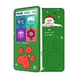 Lettore MP3 per Bambini Schermo 2.4' Regalo di Natale 8 GB Lettore MP4 Bambini con Design a Zampa di Cane MP3 Bambini, Giochi E-book FM Radio Registratore Vocale Calendario (Verde)