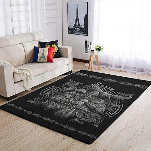 Alfombras suaves de Viking odin para decorar la sala de estar, para dormitorio, mesita de noche, color blanco, 122 x 183 cm