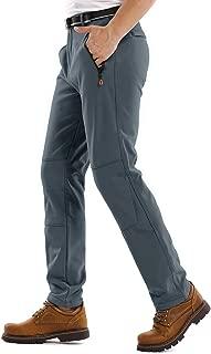 Jessie Kidden Hiking Pants Mens,Waterproof Fleece Ski Snow Insulated Soft Shell Pants
