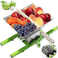 KESSER fruktkvarn 7 liter/bärkvarn/druvverk/mäsk kvarn/mäsk kvarn/fruktpress med handvev