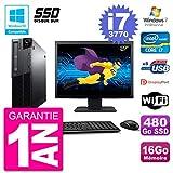 Lenovo PC M82 SFF Pantalla 27 Pulgadas i7-3770 RAM 16 GB SSD 480Go DVD-Brenner WiFi W7