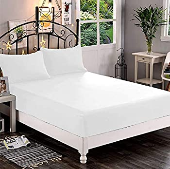 Elegant Comfort Premium Hotel Quality 1-Piece Fitted Sheet Luxury & Softest 1500 Thread Count Egyptian Quality Bedding Fitted Sheet Deep Pocket up to 16inch Wrinkle and Fade Resistant Twin/Twin XL