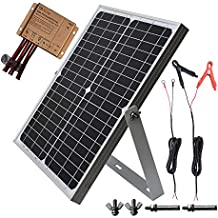 TP-solar 20W 12V Solar Panel kit Battery Charger Maintainer + 10A Waterproof Solar Charge Controller + Adjustable Mount Tilt Rack Bracket + Solar Cable for Car RV Marine Boat 12 Volt Battery Off Grid