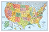 Signature Edition U.S. Wall Map – Laminated Rolled
