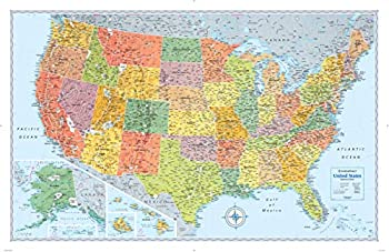 Signature Edition U.S Wall Map – Laminated Rolled