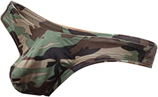 D DOLITY Classic Camouflage T-Back Briefs Underwear, Low Cut Bikini G-String Thong Tangas Swimsuit for Men