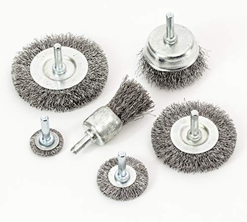 eHomeA2Z Wire Wheel Steel Brushes (6 Pcs)