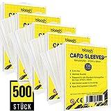 blaash® Custodie per carte di credito, 500 pezzi, trasparenti, per tutte le carte di gioco e...