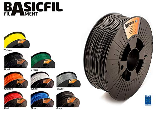 BASICFIL PLA  2.85mm, 1 kg, 3D printing filament , Grey