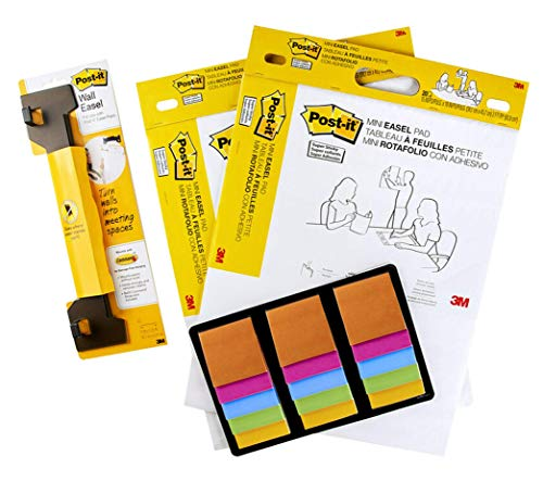 Post-it Teacher & Student Learning Supply Kit, School Supplies, Includes 2 Mini Easels, 15 Super Sticky Note Pads & 1 Easel Hanger (577SS-KIT)