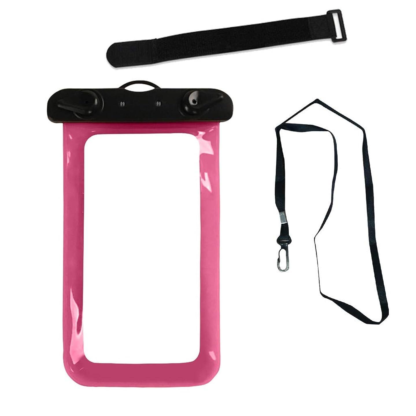Alisy Waterproof Phone Case, Waterproof Bag Cellphone Mobile Pouch Dry Bag Underwater Case for Pools Beach Kayaking Travel or Bath (Pink)