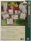 DIMENSIONS Natale detti ornamenti contati Punto Croce Kit-Fino a 4' Set di Sei