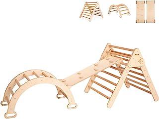Smart Climbing Triangle with Ramp, Climbing Arch, Montessori Climber, Waldorf Ladder, Toddler Gym, Birch Hardwood
