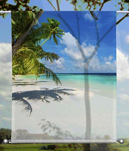 gardinen-for-life Scheibenhänger Islands rechteckig mit Beschwerung, Toller Scheibenhänger aus Feiner Voile, Verschiedenen Größen (HxB 100x60cm)