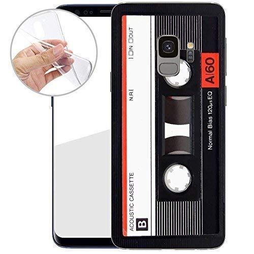 TPU Handyhülle für Dein Samsung Galaxy S9 von finoo Made In Germany Hülle mit Motiv für Optimalen Schutz Silikon Tasche Case Cover Schutzhülle für Dein Samsung Galaxy S9-Kassette Rot