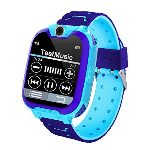 Smartwatch Bambini,Musica e 7 Gioco Smartwatch per Bambini 3-12 Anni Ragazze Ragazzo con Fotocamera Slot per Scheda SIM Touch Screen Gioco Smart Watch Phone Regalo per Bambini