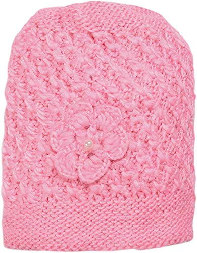 DIGITAL SHOPEE Stylish Soft Quality Winter Warm Woolen Cap for Women/Girls/Ladies - (Pink)
