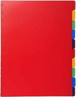 Exacompta 86003E Intercalaire 12 touches en polypropylène couleur format maxi ( pour que les intercalaire dépasse des poch...