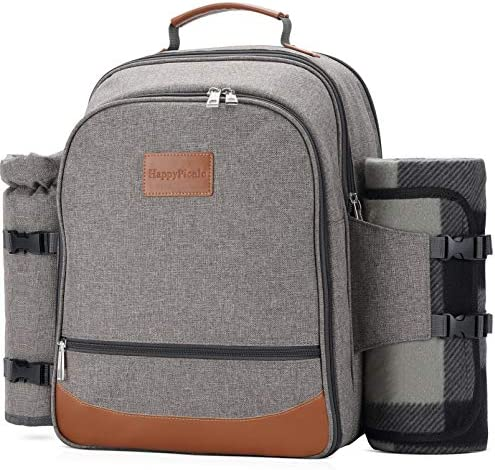 HappyPicnic Insulated Picnic Backpack for 4 Persons with Full Set of Tablewares Roomy Cooler product image