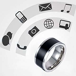 Aura Ring for Men, Fashion Ring Multifunctional Waterproof NFC Chip Smart Finger Ring for Android Mobil Windows (13)
