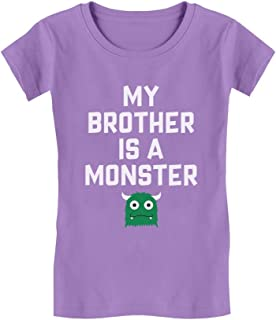 My Brother is a Monster Funny Siblings Halloween Infant Girls' Fitted T-Shirt